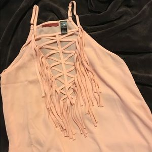 BKE Red fringe tank